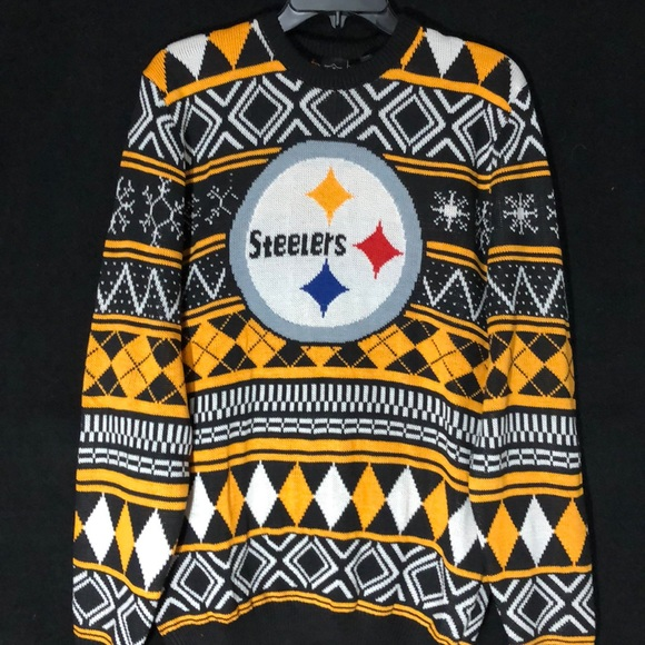 """new product 59c46 d7d8f 🆕 Pittsburgh Steelers """"Ugly"""" Christmas Sweater"""
